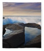 Reflections In Monument Cove Fleece Blanket