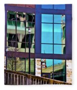 Reflections In San Antonio Texas Fleece Blanket