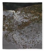 Reflections Of A Lacy Leaf Fleece Blanket