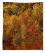 Reflections Of Autumn Fleece Blanket