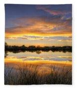 Reflections Of Gold  Fleece Blanket