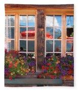 Reflections Of Switzerland Fleece Blanket