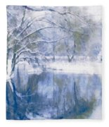 Reflections Of Winter Fleece Blanket