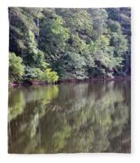 Reflections On Aldridge Lake Fleece Blanket