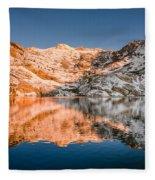 Reflections On Angel Lake Fleece Blanket