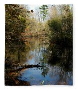 Reflective River Thoughts Fleece Blanket