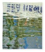 Reflective Water Abstract Fleece Blanket