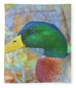 Relaxing By The Pond Fleece Blanket