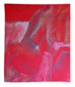 Relaxing In Red Fleece Blanket
