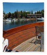 Relaxing On Lake Tahoe Fleece Blanket