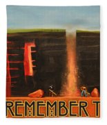 Remember To Flush Poster Fleece Blanket