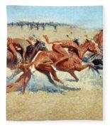 Remington: Indian Warfare Fleece Blanket