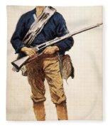 Remington: Soldier, 1901 Fleece Blanket