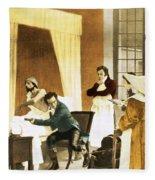 Rene Laennec, French Physician Fleece Blanket