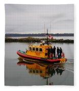 Rescue Boat Fleece Blanket