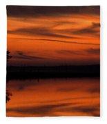 Reservoir Sunset Fleece Blanket