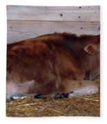 Resting Calf Fleece Blanket