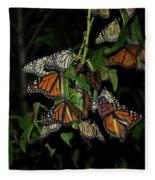Resting Monarchs Fleece Blanket