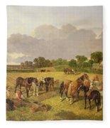 Resting Plough Team Fleece Blanket