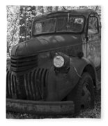 Retired Rusty Relic Farm Truck Fleece Blanket