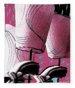 Retro In Pink Fleece Blanket