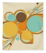 Retro Pattern Fleece Blanket