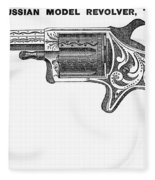 Revolver Ad, 1878 Fleece Blanket