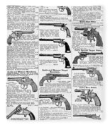 Revolvers And Pistols, 1895 Fleece Blanket