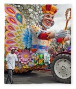 Rex Mardi Gras Parade IIi Fleece Blanket
