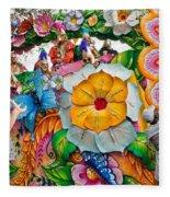Rex Mardi Gras Parade Ix Fleece Blanket
