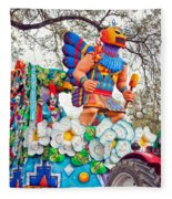 Rex Mardi Gras Parade V Fleece Blanket