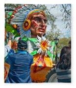 Rex Mardi Gras Parade Vii Fleece Blanket