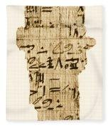 Rhind Papyrus Fleece Blanket
