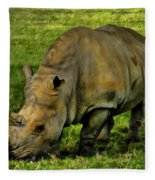 Rhinoceros 101 Fleece Blanket