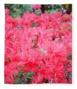 Rhodies Art Prints Pink Rhododendrons Floral Fleece Blanket