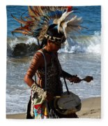 Rhythm Of The Ocean Fleece Blanket