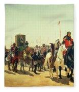 Richard Coeur De Lion On His Way To Jerusalem Fleece Blanket