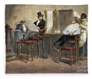 Richmond Barbershop, 1850s Fleece Blanket