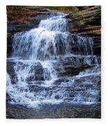 Ricketts Glen Waterfall 4075 Fleece Blanket