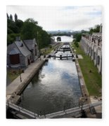 Rideau Canal And Locks - Ottawa Fleece Blanket