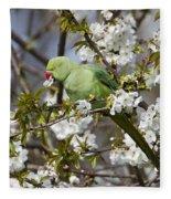 Ring-necked Parakeet Fleece Blanket