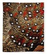 Ring-necked Pheasant Phasianus Fleece Blanket