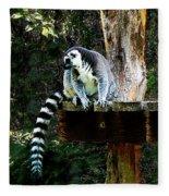 Ring-tailed Lemur Fleece Blanket