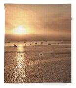 Ringling Bridge Morning Fleece Blanket