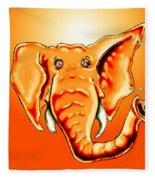 Ringo Party Animal Orange Fleece Blanket