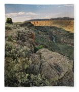 Rio Grande Gorge Above Taos Junction Bridge Fleece Blanket
