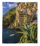 Rio Maggiore Cinque Terre Italy Fleece Blanket