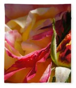 Rio Samba Rose And Bud Fleece Blanket