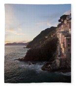 Riomaggio Sunset Fleece Blanket