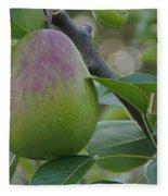 Ripening Pear In Tree Fleece Blanket